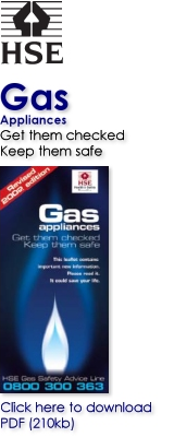 Gas Appliances - Get them checked and keep them safe